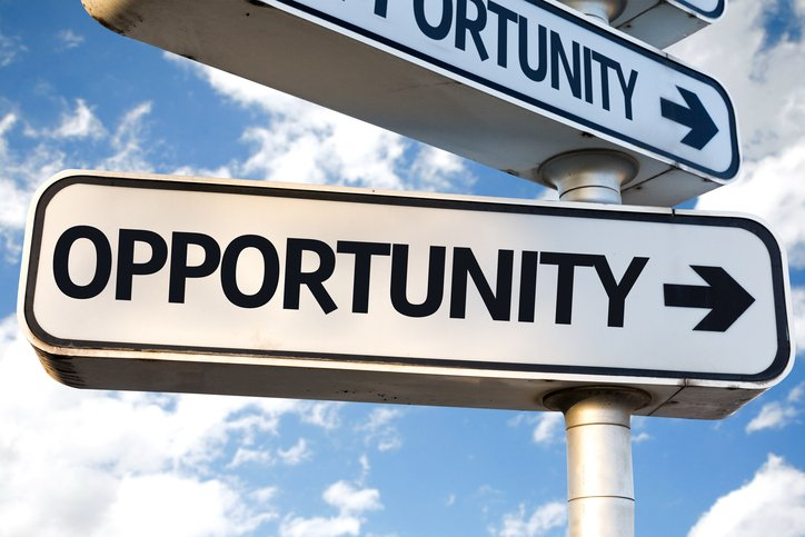 Sign pointing to an opportunity